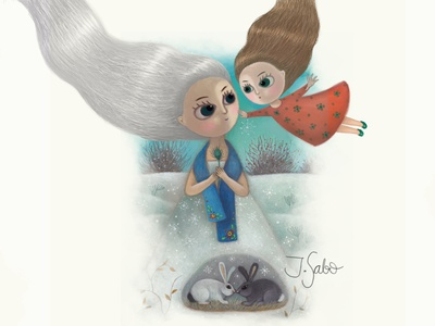 The Snow Queen is My Mommy illustration girl illustration girl character woman illustration illustrator children book illustration childrens illustration characterdesign character design