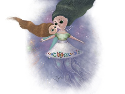 My Sister is the Sea Princess girl illustration illustration woman illustration girl character illustrator childrens illustration children book illustration characterdesign character design