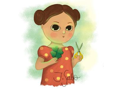 Create Your Own Luck luck creative illustration girl illustration girl character childrens book illustrator childrens illustration children book illustration characterdesign character design