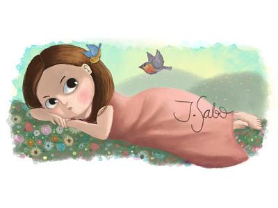 Not titled yet photoshop illustration girl illustration girl character childrens book illustrator childrens illustration children book illustration characterdesign character design