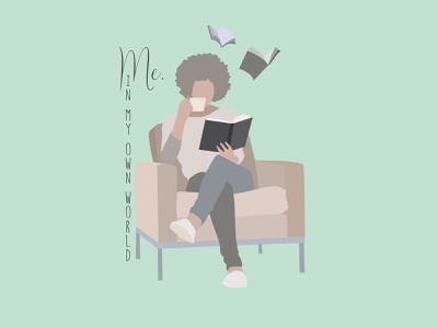 Woman Reading a Book book illustration woman reading flat design flat illustration design illustration illustrator characterdesign character design