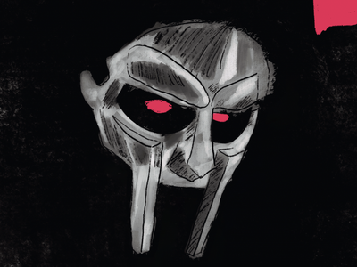 MF DOOM Tribute - 4 hip hop digital art tribute villian mf doom