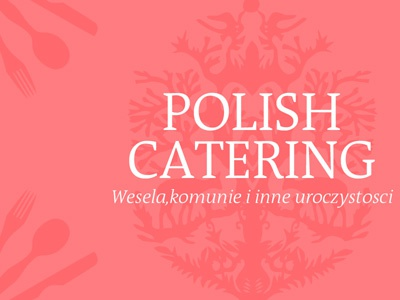 Polish Catering logo illustration business card