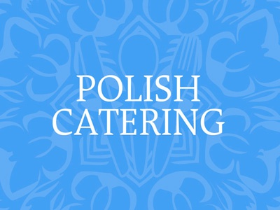 Polish Catering Blue logo illustration business card
