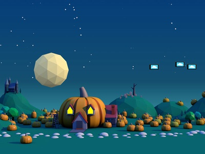 Low Poly Halloween 2