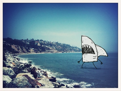 Monster shark doodle