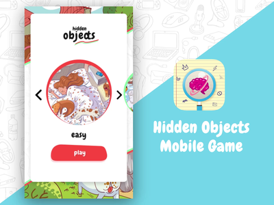 Hidden Object Mobile Game mobile game design casual game design ui mobile ui mobile app design animation