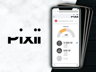 Pixii Power Remote ui app mobile ui mobile app design