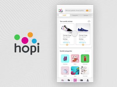 HOPI gift app shopping app ios app design flat app design ui mobile ui mobile app design