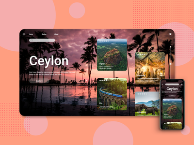 Ceylon travel landing page and mobile app design appdesign mobile app mobile ui srilanka travel ux website webdesign uiux uiuxdesign modern design concept landingpage ui ceylon