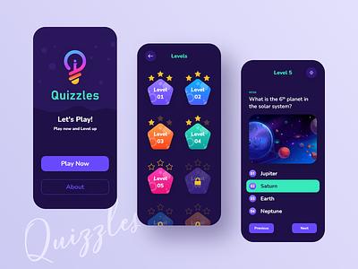 Quiz App UI Design illustraion mobile app design mobile design app game quizz quizapp quiz mobile ui mobile app appdesign uiuxdesign modern mockup design uiux ui concept