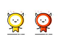 Kk Pp mascot icon