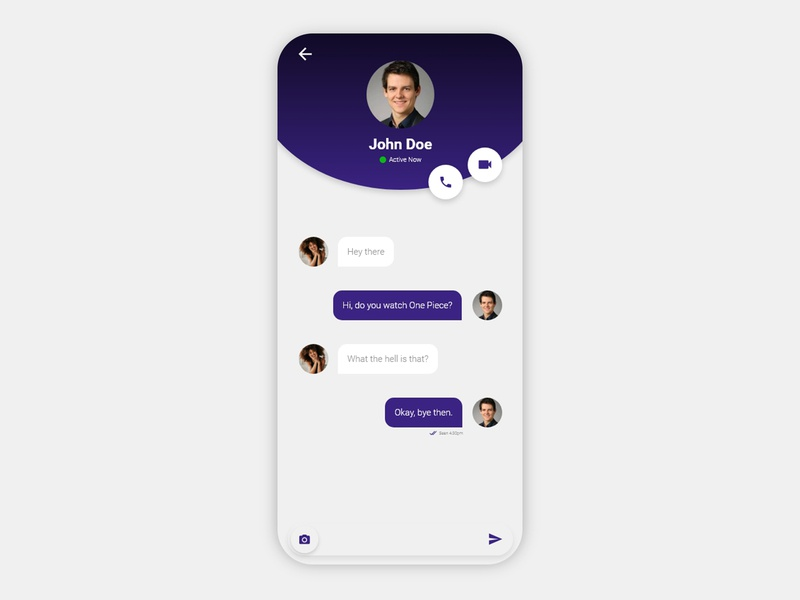 Direct Messaging - Daily UI Challenge #13 philippines direct messaging messaging app minimal clean adobe xd daily 100 challenge ux uiux ui daily ui messaging