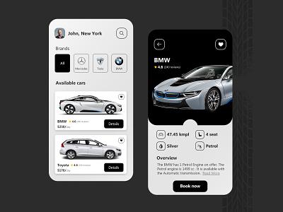 Car Rental App Design app design booking system carrental