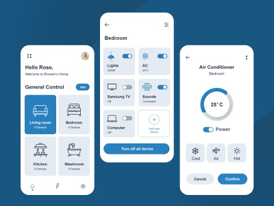 Smart Home App Design ui smarthome app design