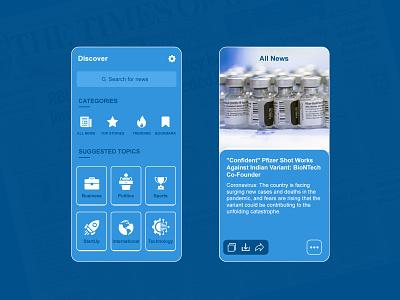 News App Design ui news app app design