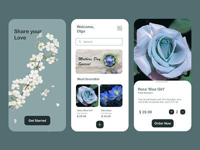 Flower Shop App Design ui flower shop app design