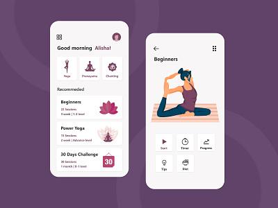 Yoga App Design yoga ui app design