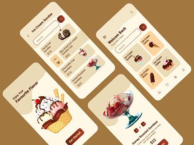 Ice Cream Shop App Design ice cream shop ui app design