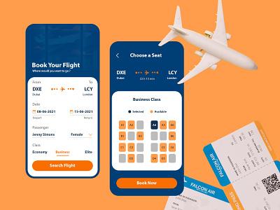 Flight Booking App Design booking app flight app design