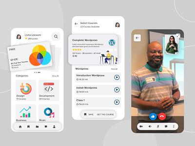 E-Learning App Design app design