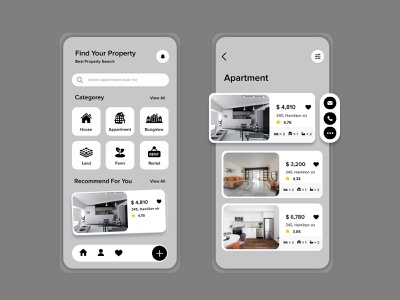 Real Estate App Design real estate ui app design