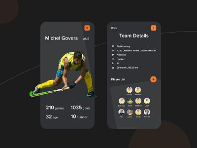 Sports App Design sports app ui app design