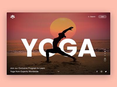 Yoga Landing Page Design webpage yoga landing page ui
