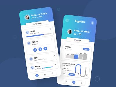 Health Tracker App Design activity tracker app health tracker app ui app design