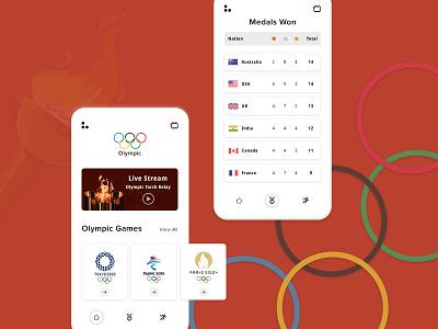 Olympics Data App olympics ui app design