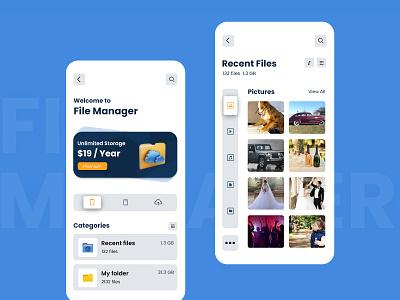 File Manager App mobile app ui file manager ui app design