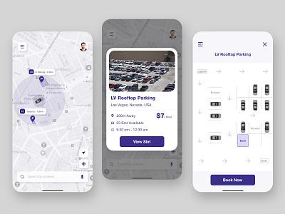 Car Parking App car parking ui app design