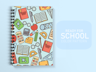 Ready for school pattern pattern notebooks school design illustration art illustration vector