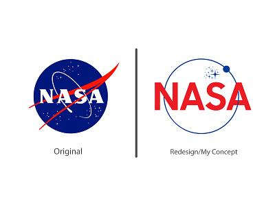 NASA Logo-Logo Redesign My Concept logos branding nasa logo redesign nasa redesign logo redesign logo redesign concept redesign nasa logo nasa