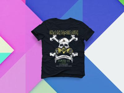Iron Maiden Pandemic Covid-19 T Shirt Design bulk t-shirt bulktshirt creative tshirt amazon t shirts design amazing amazon store amazon shirt amazon alternative teespring redesign concept amazon t shirts typography ironmaiden vector tshirt design tshirtdesign tshirt art tshirts tshirt