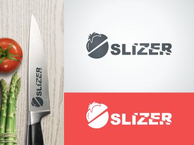 Slizer logo logo knife tomato