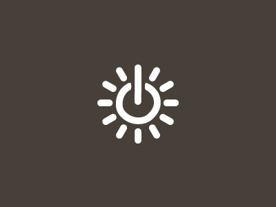 Solar Power sun icon mark logo power