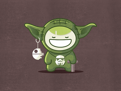 May the Force be with you kawai vector fun character toy boy smile yoda starwars