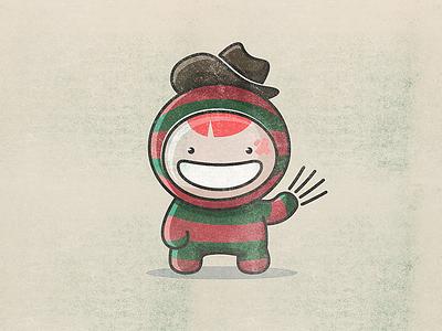 Freddy freddy kawai toy smile character vector