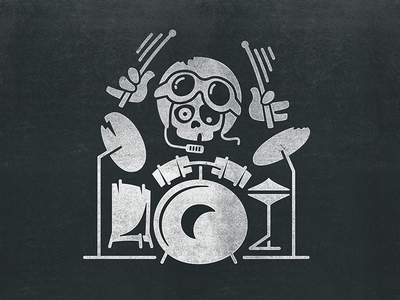 Drummer bambozza character boy toy helmet skull music drum drummer