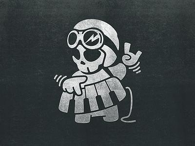 Keyboardist fun bambozza keyboard music skull helmet toy boy character