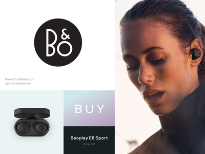 Beoplay E8 Sport luxury headphones headphone fashion branding web design ui design
