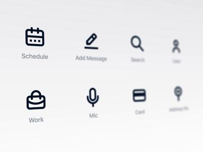 Icon set for upcoming UI Kit