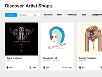 Discover Artist Shops