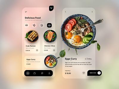 food app typography ux ui design