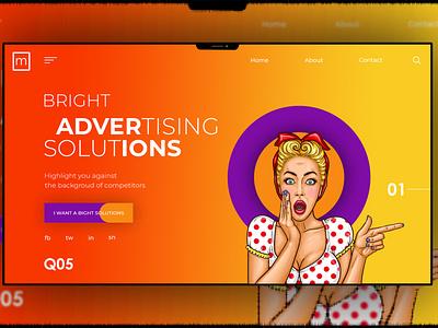 Landing-page web webdesign ux design ui
