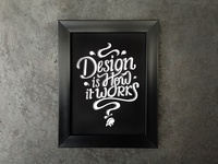 Font Lettering | Design is how it works