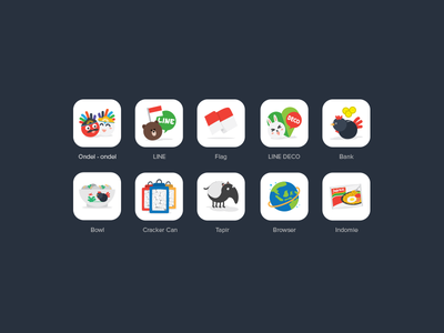 Indonesian Icons tapir illustrator ai icon element design graphic icons line indonesian project indomie