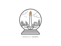 Jakarta City - Indonesia Badge