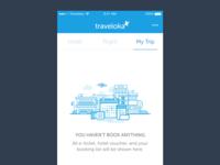 Empty reservation illustration - mobile apps